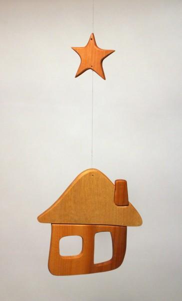 Mobilé Haus mit Stern