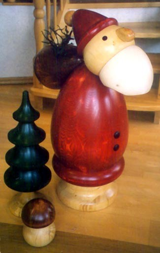 Weihnachtsmann - Holzfigur gedrechselt