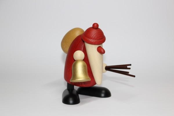 Weihnachtsmann mit Glocke und Rute, 9cm