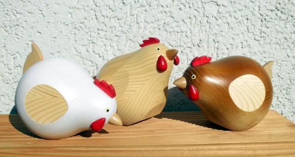 Huhn farbig