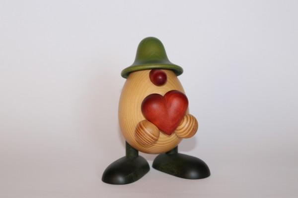 http:/Eierkopf Hanno mit Herz grün