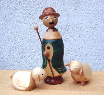 Schäfer - Holzfigur gedrechselt