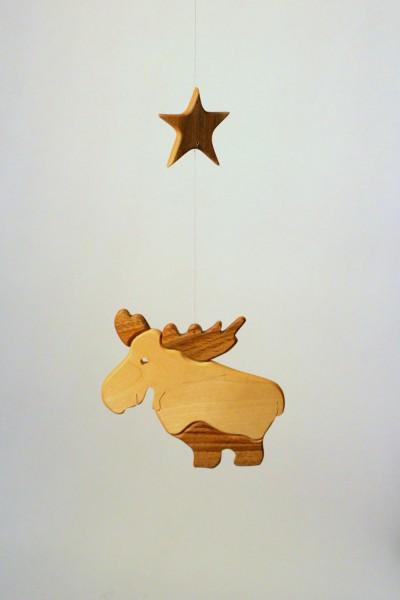 Mobile Elch mit Stern