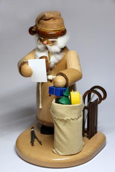 Räuchermann Weihnachtsmann, natur