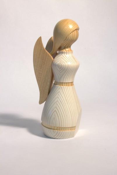 Engel weiss - Holzfigur gedrechselt