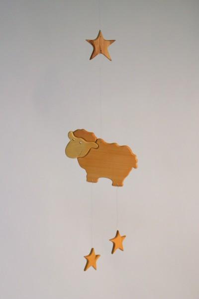Mobilé Schaf mit Sterne