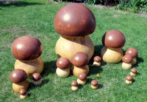 Pilz - Holzfigur gedrechselt